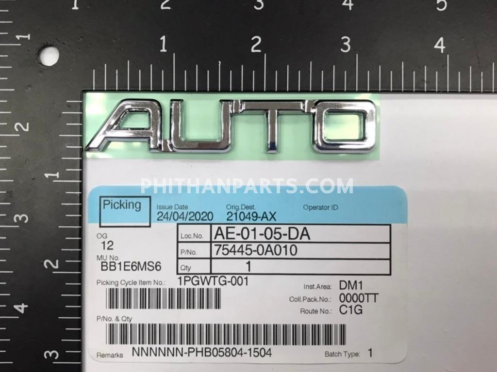 อักษร AUTO(AL50)