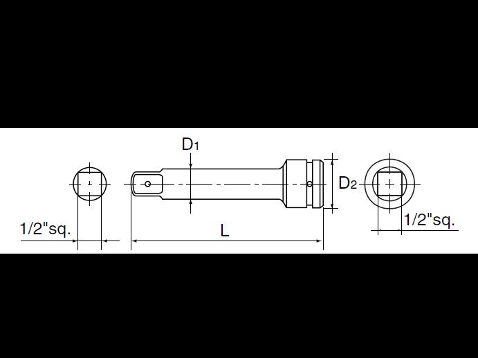 ด้ามต่อบ๊อกซ์ลม 1/2 BEP4-150