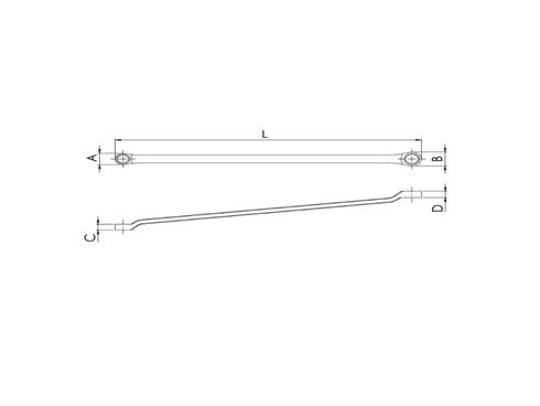 ประแจแหวน 45°x6° No.13x15 WR-1315  - ขนาดประแจ  13x15 mm.  - ความกว้างของแหวน (A) 21.4 mm.  - ความกว้างของแหวน (B) 25.9 mm.  - ความหนาของแหวน (C) 9.8 mm.  - ความหนาของแหวน (D) 10.8 mm.  - ความยาวทั้งตัว (L) 259 mm.