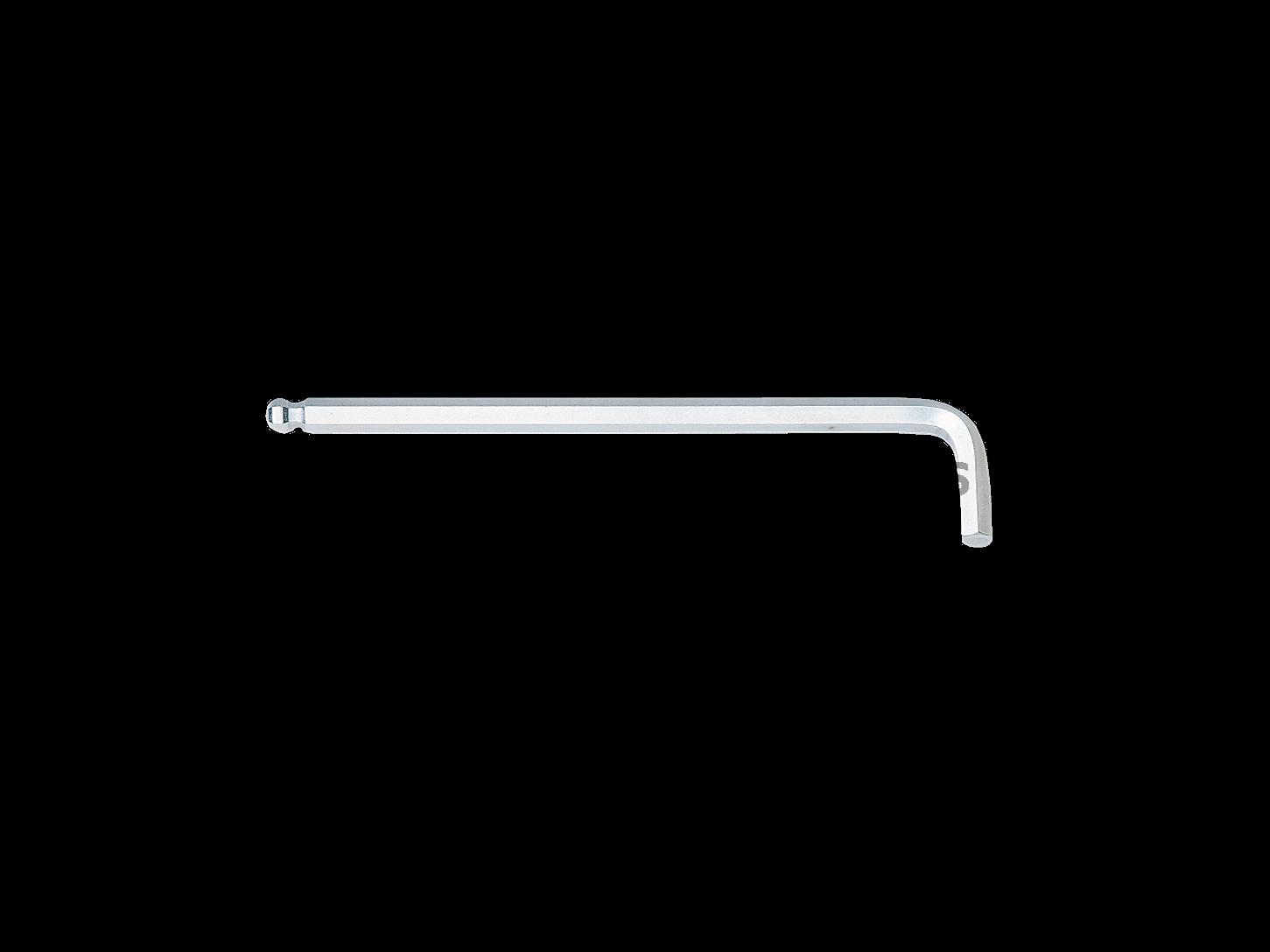 ประแจ  ยาว ชุบขาว ปลายบอลล์ 130 มม 3  HLD250-3