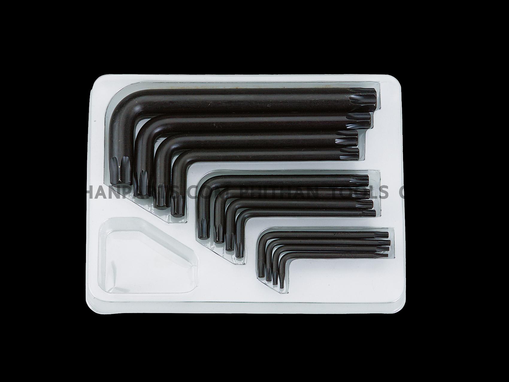 ประแจ  ดอกจีบ สีดำ 12 ชิ้น/ชุด LTX12